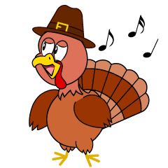 Singing Thanksgiving Turkey