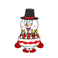 Snowman with Cake