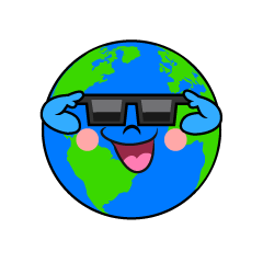 Earth Wearing Sunglasses